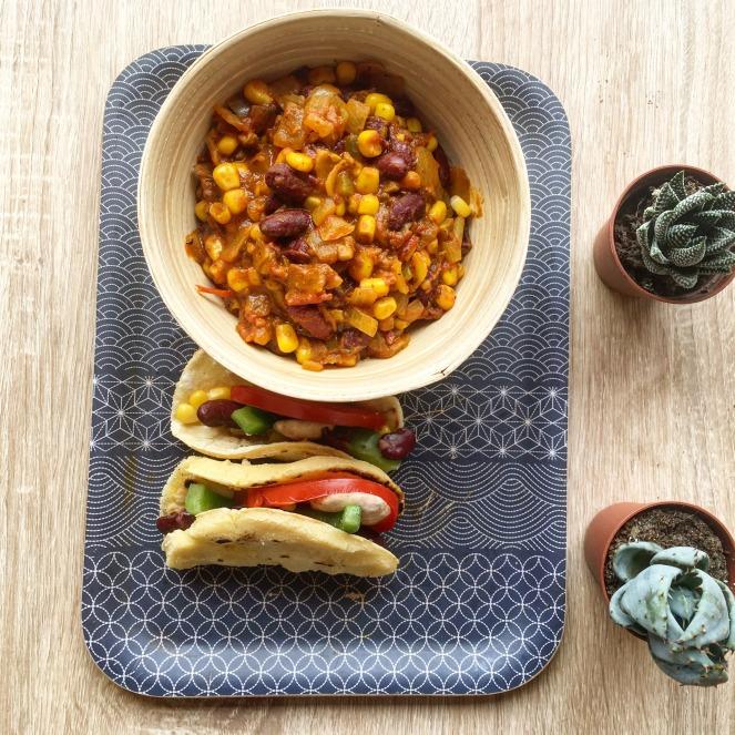recette mexicaine vegan chili sin carne tacos plante ton assiette