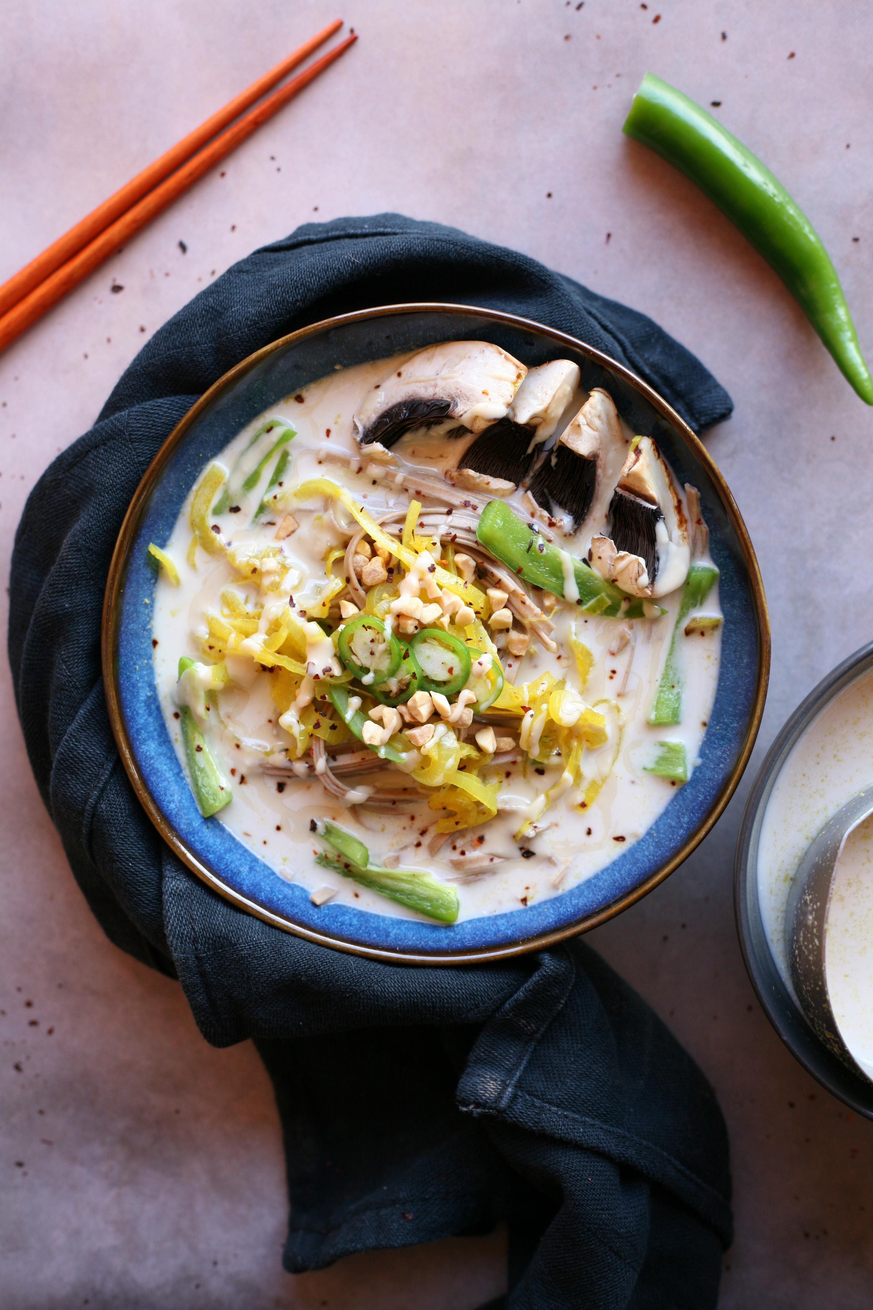 recette soupe amande coco et légumes