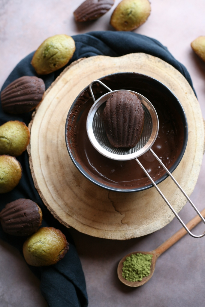 madeleine vegan chocolat matcha