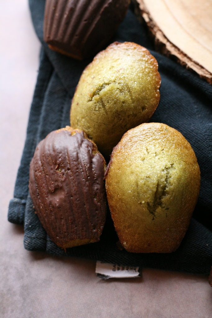 madeleine vegan matcha chocolat